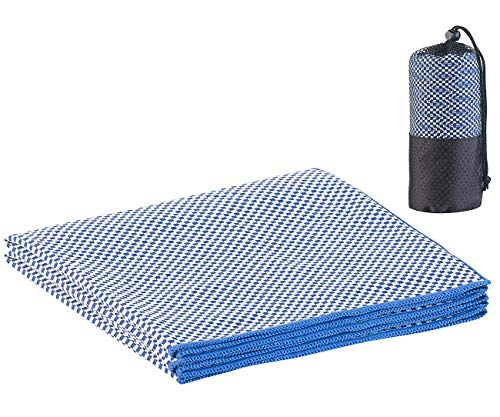 PEARL Badetuch: Schnelltrocknendes, leichtes Bambus-Handtuch, nachhaltig, 130 x 80 cm (Outdoorhandtuch)