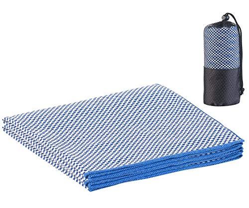 PEARL Duschtuch: Schnelltrocknendes, leichtes Bambus-Handtuch, nachhaltig, 130 x 80 cm (Trekkinghandtuch)