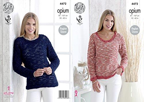 King Cole 4472 breipatroon dames truien in Opium