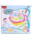 Intuitive, interactive drum features flashing multi-colored 3d lights with different drum sounds and 9 dulcet songs, tap drum to hear, see and learn numbers from 1 to 5 and 5 different colors Features silly sound effects and laughing baby sounds, hel...
