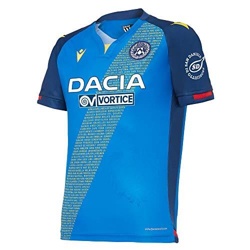 Macron UDI M20 - Segunda camiseta oficial de la Udinese de fútbol 2020/21 para niño, azul, JM
