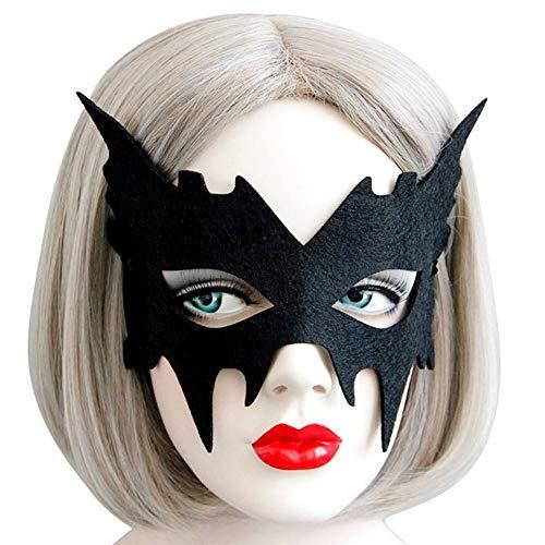 Maschera Bat Girl - Pipistrello - Cat Woman - Tessuto - Nera - Idea Regalo per Natale e Compleanno