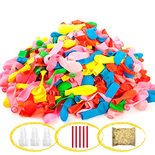1000 pcs Water Balloons with Rapid Refill Kits, Instant Water Bomb Balloons Water Fight Party Game, Summer Swimming Pool Outdoor Toys for Kids & Adults, Assorted Colors, Filler Not Included
