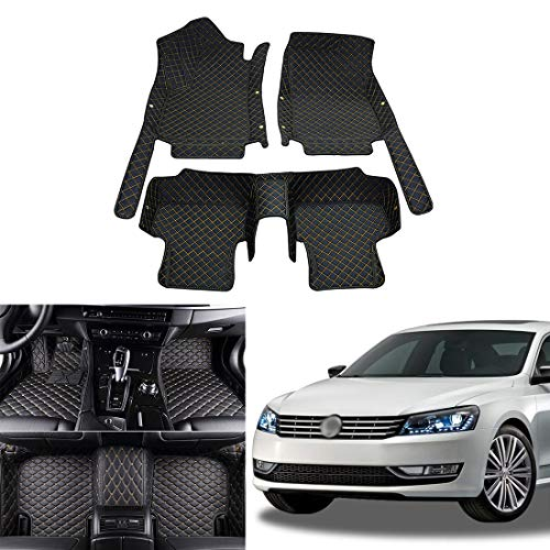 OREALTECH All Weather 3D All-Inclusive-Stijl Automatten Vloermatten Voettapijten Autotapijten Deurmatten Auto XPE Leren voor Volkswagen Vw Passat 2012-2018
