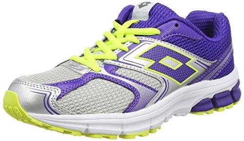 Lotto Zenith VII W, Zapatillas de Running Mujer, Gris Silv MT Bloom, 36 EU
