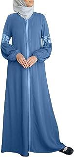 HIKO23 Women Muslim Dress Plus Size Print Dubai Kaftan Arab Jilbab Abaya Islamic Long Sleeve Maxi Dresses