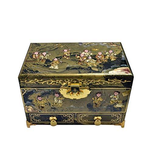 YDJGY Schmuckkästen, Holz, chinesische Aufbewahrungsbox, Kunsthandwerk, Aufbewahrungsbox für Schmuck, Dressing-Box, Schmuckschatulle