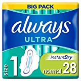 Always Ultra Normal (T1) Serviettes Hygiéniques Ailettes x28