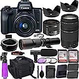 Best Mirrorless Cameras - Canon EOS M50 Mirrorless Camera (Black) w/M-Adapter Review