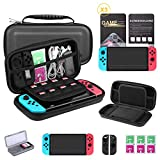 Bestico 7 in 1 Zubehör für Nintendo Switch, Nintendo Switch Tasche+Game Card Hüll+3x...