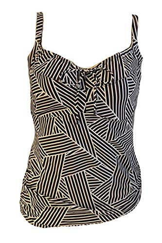 Cyell Top Tankini Wires Gr. 38 F Art Deco Swim Swimwear Bademode Bügel #T65a