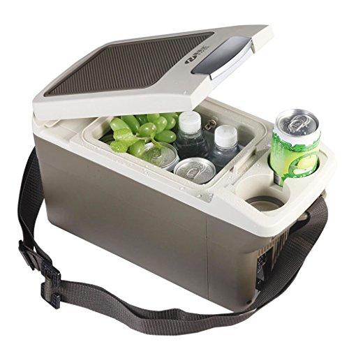 JCOCO Refroidisseur et radiateur silencieux du mini réfrigérateur 6L, utilisation de voiture et à la maison (Couleur : Brown)