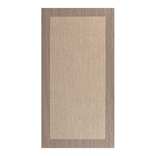 STORESDECO - Alfombra Vinílica Deblon, Alfombra de PVC Antideslizante y Resistente, Ideal para Salón, Pasillo, Cocina, Baño… | Color Marrón Claro, 80 cm x 150 cm