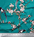 Soimoi Grüne Seide, Stoff Blumen & Paradise Whydah