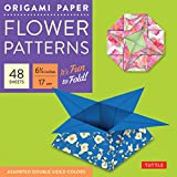 """Origami Paper 6 3/4"""" (17 cm) Flower Patterns 48 Sheets: Tuttle Origami Paper: High-Quality Double-Side Origami Sheets Printed with 8 Different Designs: Instructions for 6 Projects Included"""