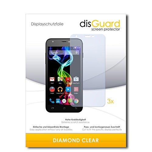disGuard 3 x Schutzfolie Archos 50c Platinum Bildschirmschutz Folie DiamondClear unsichtbar