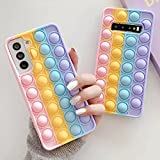 Push Sensory Bubble Silicone Morbido Fidget Toy Ansia Stress Release Thinking Chess Phone Case per Samsung Galaxy S21 20 Ultra S10 S9 Note 20 10 9 Shell Protector Roditore Pioneer Phone Cover-S10