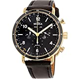 Shinola The Canfield Sport Black Dial Leather Strap Men's Watch...
