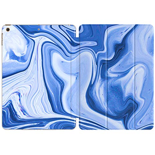 Vonna Case for Apple iPad 12.9 Pro 10.2 8th Gen 11 10.5 9.7 Air 3 2019'18 Mini 5/4/3/2/1 Print Oil Paint Slim Blue Lightweight Watercolor Magnetic Abstract Stand Artwork Design Stains Closure vm1235