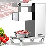 NEWTRY Commercial Meat Cutter Machine for Restaurant, 3mm Meat Cutting Machine, 1,100 lbs/H, Meat Slicer Strips Cubes Minces, QE