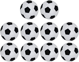 LIOOBO 10 Pcs 32mm Table Soccer Foosballs Game Replacement Official Tabletop Game Football Balls(Black White)