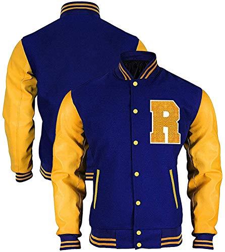 HiFacon Chaqueta Riverdale KJ APA Varsity Letterman R Bomber Chaqueta de lana/forro polar Archie Andrews