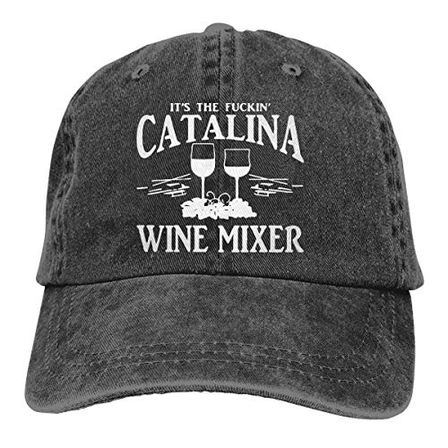 Fuckin' Catalina Wine Mixer Mesh Dancing Cap Unisex Denim Cap Adjustable Retro Hats for Womens
