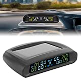 EBTOOLS Display di monitoraggio della pressione dei pneumatici, sistema di monitoraggio wireless TPMS Strumento del sensore di pressione dei pneumatici Display LCD USB Solar Power