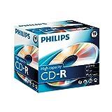 Philips CD-R Rohlinge (800 MB Data/ 90 Minuten, Multi Speed Aufnahme, 10er Jewel Case)