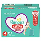 Diapers Size 4, 144 Count - Pampers Pull On Cruisers 360° Fit Disposable Baby Diapers with Stretchy Waistband, ONE Month Supply (Packaging May Vary)
