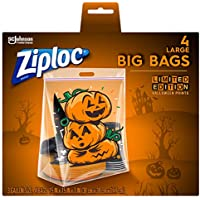 4-Pack 3-Gallon Ziploc Halloween Storage Bag