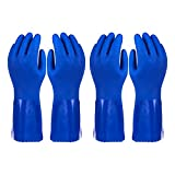 2 Pack Dishwashing Gloves – Reusable Kitchen Household Rubber Gloves for Cleaning Dish...