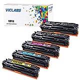 VicLabs Compatible LBP7110CW Toner Cartridge, Replacement for Canon 131 131H LBP7110CW MF624CW MF628CW MF8280CW Toner(131 Black, 131 Cyan, 131 Yellow,131 Magenta-5Packs)