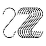 20 Pack S Hooks Heavy Duty 304 Stainless Steel for haning Plants Large (11 cm /4.3 inch-20 Pack)