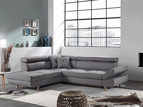 Bestmobilier - Linea - Canapé d'angle Gauche Convertible scandinave - L 252 x P 190cm