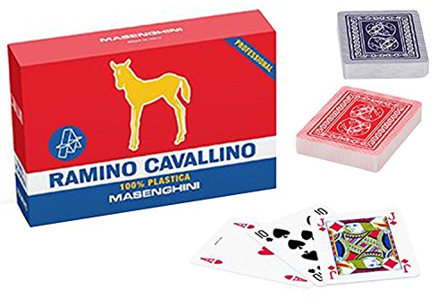 Carte da gioco professionali MASENGHINI ramino cavallino VC28