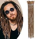 12'(30cm) SEGO 5PCS Dreadlocks Extensiones Rastas Africanas de Pelo Sintético [Castaño Café] Crochet Twist Braiding Hair