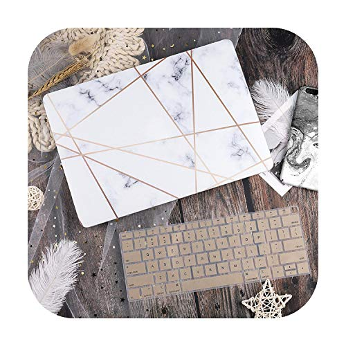 Plastic Hard Case with Keyboard Cover for MacBook Air 13 11 Pro 13 15 Touch Bar 2019 2020 A2289 A2251 A2159 A1932 Dream Catcher-White-Pro 2020 A2251 A2289