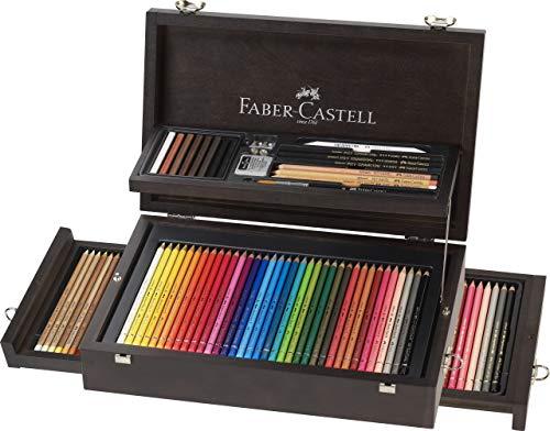 Faber-Castell - 110085 125er A&G Collection Koffer Polychromos Künstlerfarbstifte, Albrecht Dürer & Zubehör