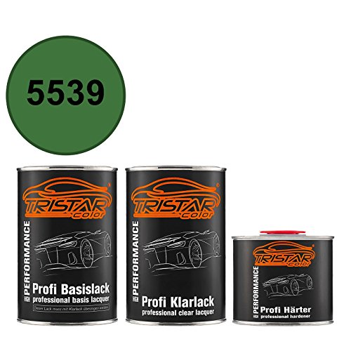 TRISTARcolor Autolack Set Dose spritzfertig für Agricultural/Agrar 5539 Lanz/John Deere Groen Basislack + 2K Klarlack 2,5L