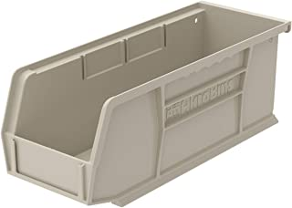 Akro-Mils 30224 Plastic Storage Stacking Hanging Akro Bin, 11-Inch by 4-Inch by 4-Inch, Stone, Case of 12
