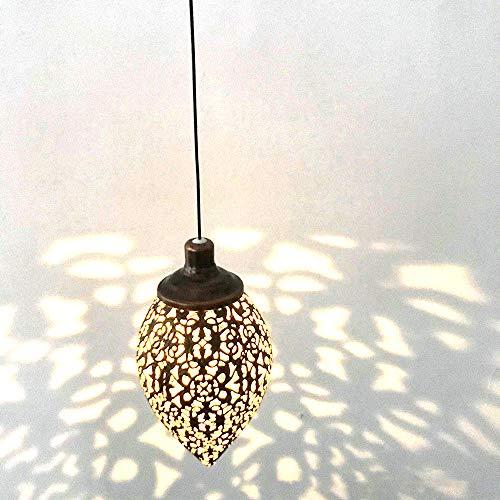 ShangSky Lanterne solaire pour jardin, lampe suspendue en fer creux extérieur, lumière de lanterne étanche IP55 pour décoration de patio de jardin porche