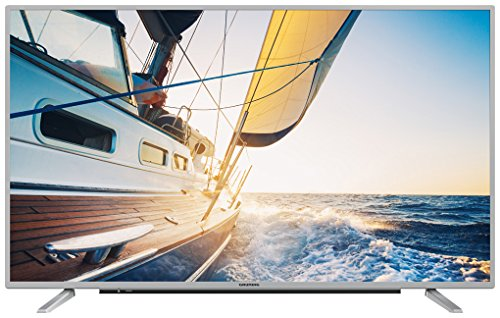 Grundig 32 GFS 6820 80 cm (32 Zoll) LED-Backlight-TV (Full-HD, 1920 x 1080 Pixel, 800 Hz PPR, Triple Tuner (DVB-T2 HD/C/S2), Smart TV), Silber