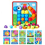 Button Art Toys for Toddlers, Geekper Color...