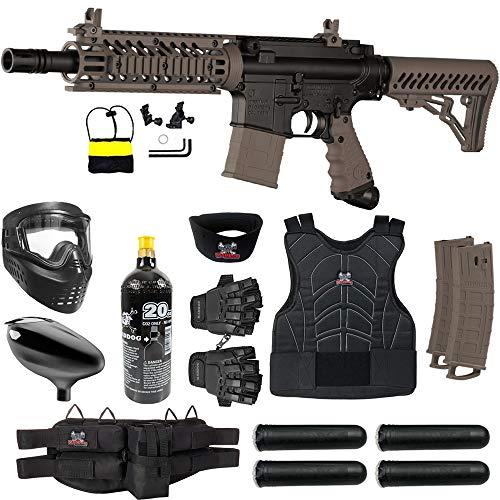 Maddog Tippmann TMC MAGFED Protective CO2 Paintball Gun Starter Package - Tan