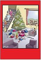 ギフトUnwrappingサービスクリスマスJoke用紙カード 12 Christmas Card Pack (SKU:B1677)