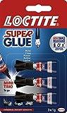 3 x SuperGlue Mini Trio, 1 g, paquete de 3