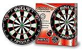 Bulls Darts Focus II Bristle Board, Black/White/Red/Green, 45,7 cm