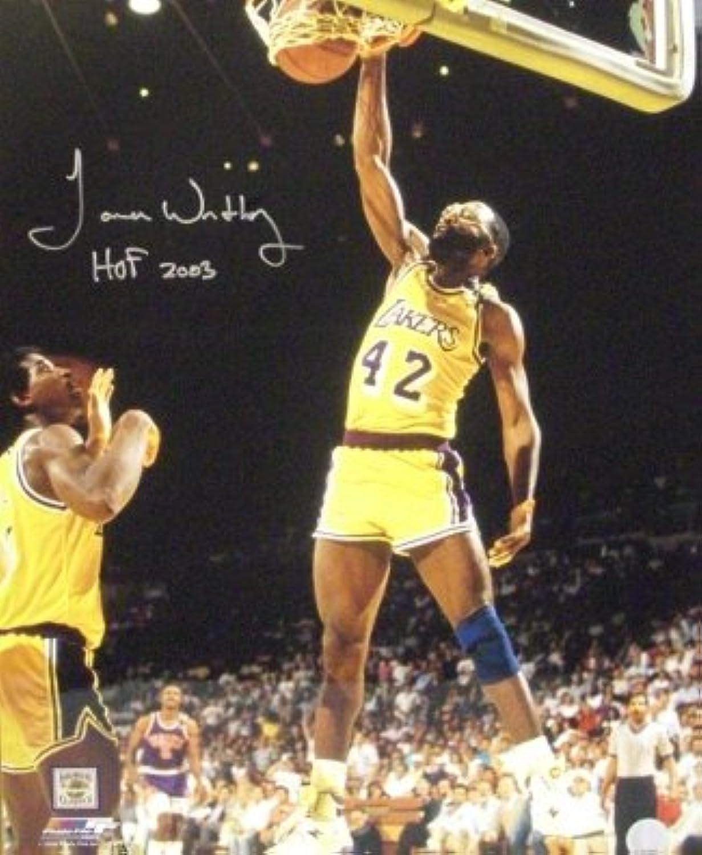 James Worthy Autographed Photo  16x20 HOF 2003  Autographed NBA Photos