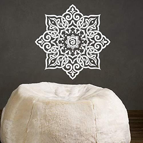 Yoga Mandalas flor pegatinas de pared patrón indio pared arte calcomanía decoración del hogar impermeable extraíble murales de arte de pared A3 59x59cm
